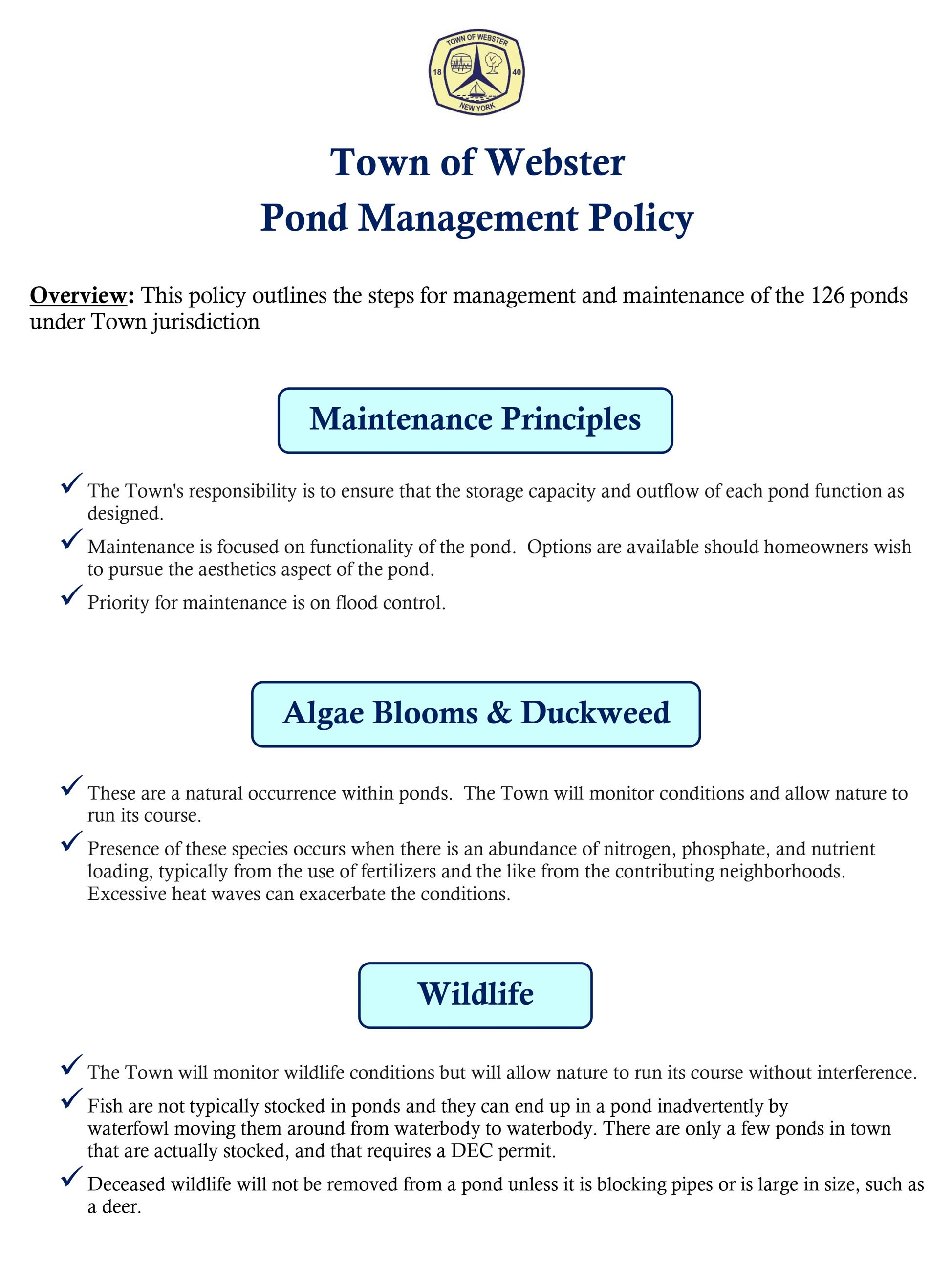 Pond Policy-1