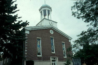Baptist Church with Greek revival-style cobblestone