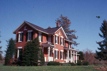 House with vernacular Italianate porch posts