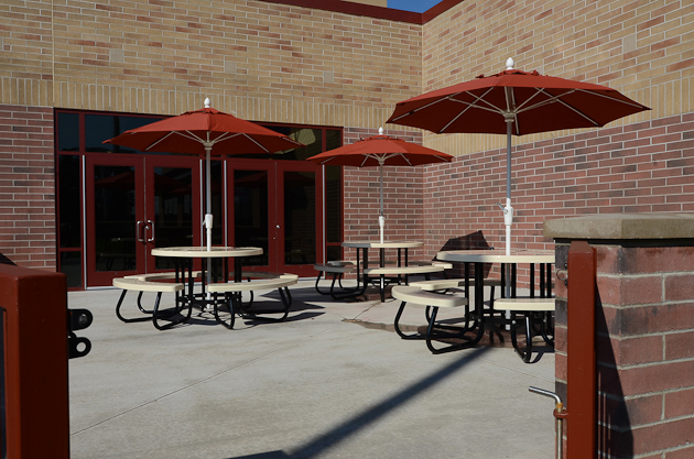 Patio at the Webster Recreation Center