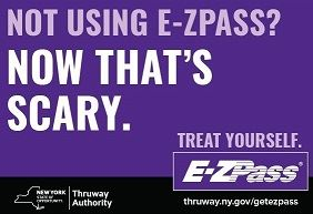 ezpass - postcard ad - now thats scary